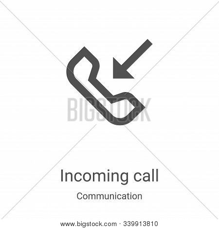 incoming call icon isolated on white background from communication collection. incoming call icon tr