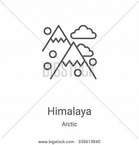 himalaya icon isolated on white background from arctic collection. himalaya icon trendy and modern h