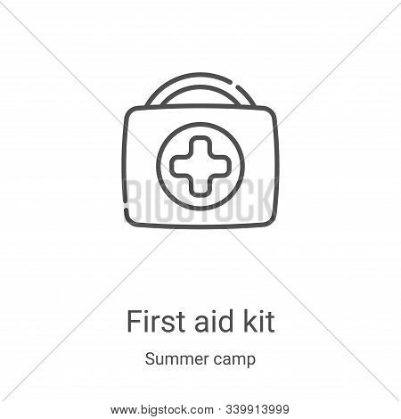 first aid kit icon isolated on white background from summer camp collection. first aid kit icon tren