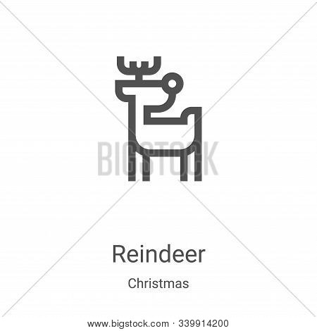 reindeer icon isolated on white background from christmas collection. reindeer icon trendy and moder
