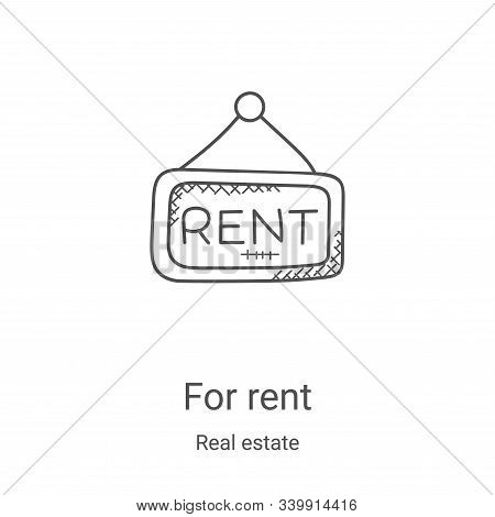 for rent icon isolated on white background from real estate collection. for rent icon trendy and mod