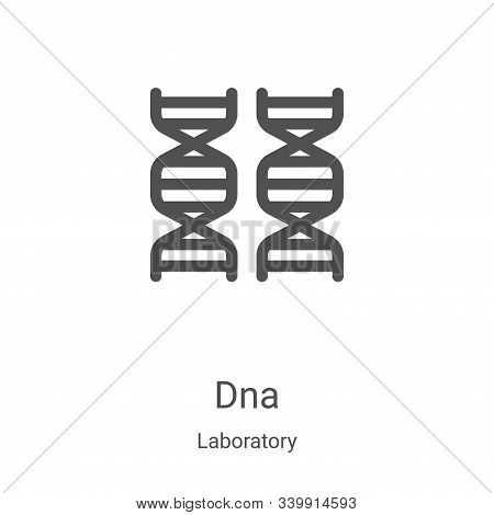 dna icon isolated on white background from laboratory collection. dna icon trendy and modern dna sym
