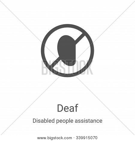 deaf icon isolated on white background from disabled people assistance collection. deaf icon trendy