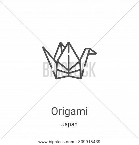 origami icon isolated on white background from japan collection. origami icon trendy and modern orig