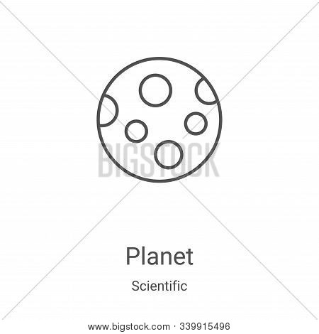 planet icon isolated on white background from scientific collection. planet icon trendy and modern p