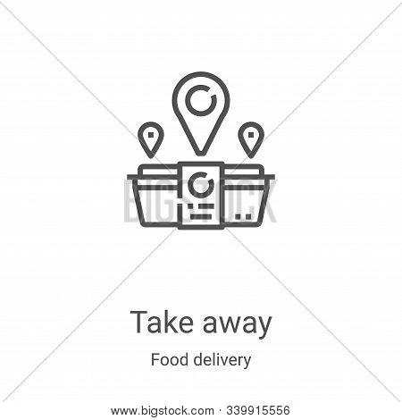 take away icon isolated on white background from food delivery collection. take away icon trendy and