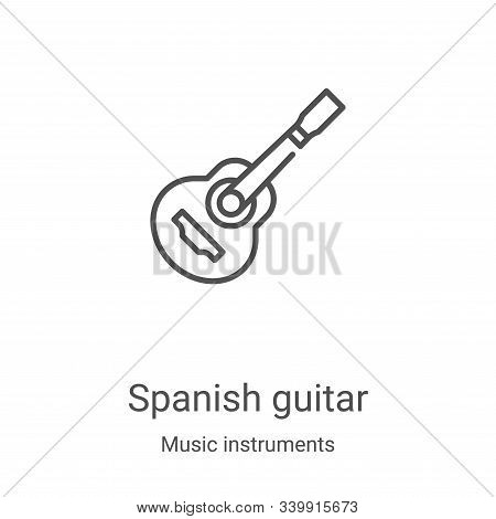 spanish guitar icon isolated on white background from music instruments collection. spanish guitar i