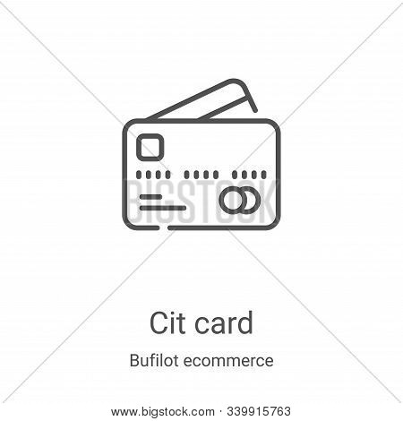 credit card icon isolated on white background from bufilot ecommerce collection. credit card icon tr