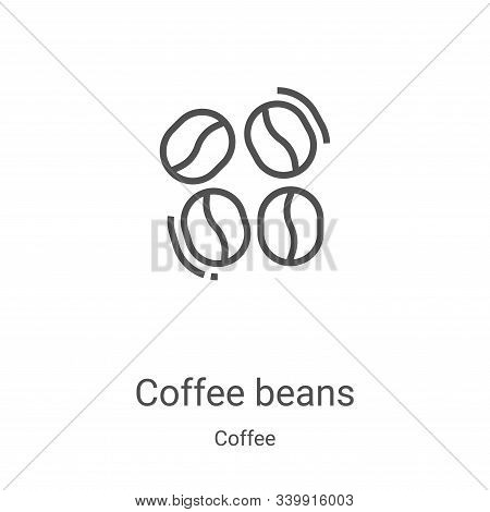 coffee beans icon isolated on white background from coffee collection. coffee beans icon trendy and