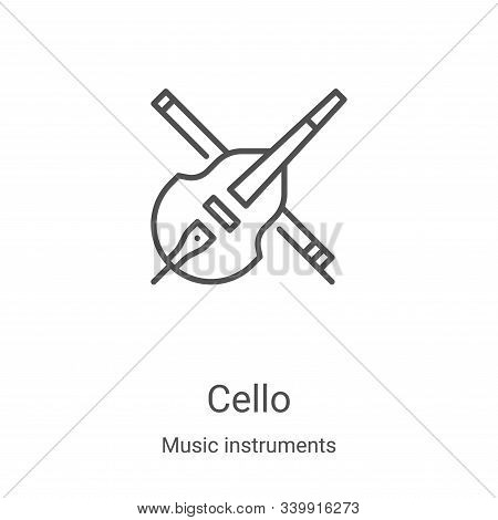 cello icon isolated on white background from music instruments collection. cello icon trendy and mod