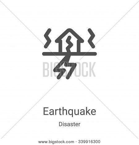 earthquake icon isolated on white background from disaster collection. earthquake icon trendy and mo