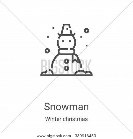 snowman icon isolated on white background from winter christmas collection. snowman icon trendy and