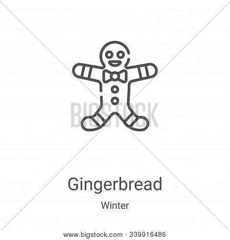 gingerbread icon isolated on white background from winter collection. gingerbread icon trendy and mo