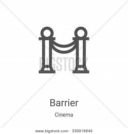 barrier icon isolated on white background from cinema collection. barrier icon trendy and modern bar