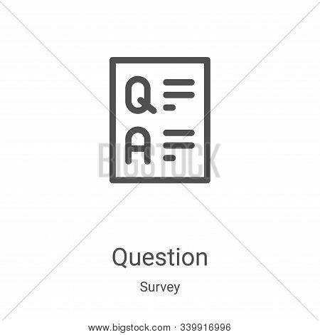 question icon isolated on white background from survey collection. question icon trendy and modern q