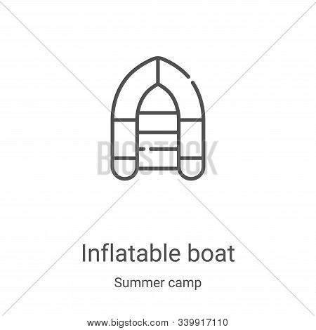 inflatable boat icon isolated on white background from summer camp collection. inflatable boat icon