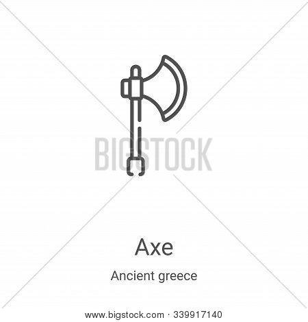 axe icon isolated on white background from ancient greece collection. axe icon trendy and modern axe