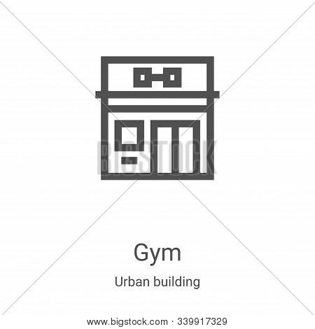 gym icon isolated on white background from urban building collection. gym icon trendy and modern gym