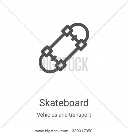 skateboard icon isolated on white background from vehicles and transport collection. skateboard icon
