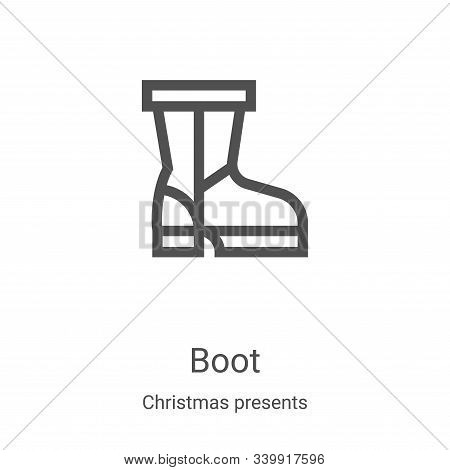 boot icon isolated on white background from christmas presents collection. boot icon trendy and mode