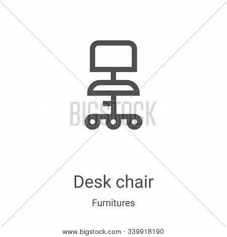 desk chair icon isolated on white background from furnitures collection. desk chair icon trendy and