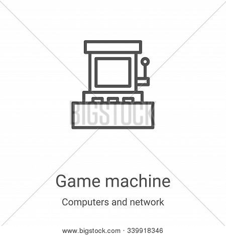 game machine icon isolated on white background from computers and network collection. game machine i