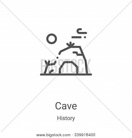 cave icon isolated on white background from history collection. cave icon trendy and modern cave sym