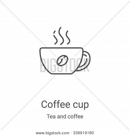 coffee cup icon isolated on white background from tea and coffee collection. coffee cup icon trendy