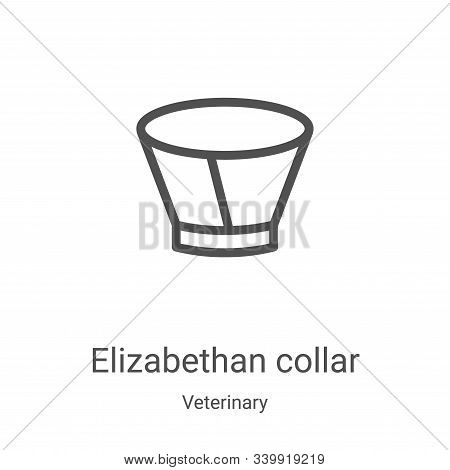 elizabethan collar icon isolated on white background from veterinary collection. elizabethan collar