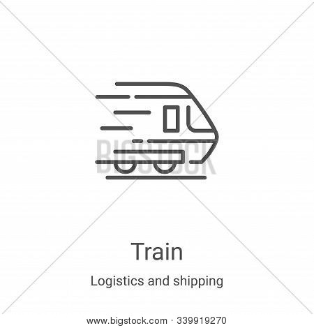 train icon isolated on white background from logistics and shipping collection. train icon trendy an