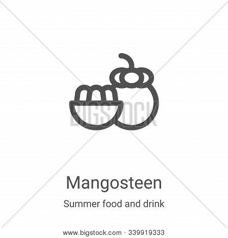 mangosteen icon isolated on white background from summer food and drink collection. mangosteen icon
