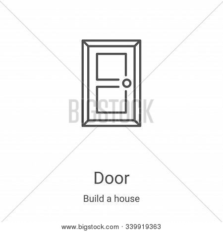 door icon isolated on white background from build a house collection. door icon trendy and modern do