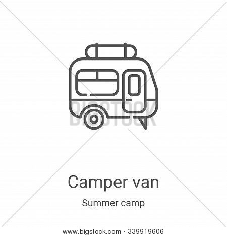 camper van icon isolated on white background from summer camp collection. camper van icon trendy and