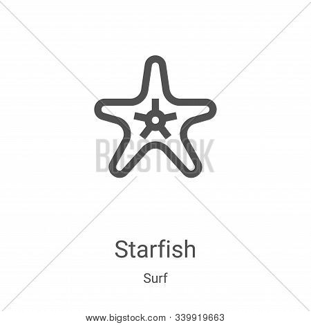 starfish icon isolated on white background from surf collection. starfish icon trendy and modern sta