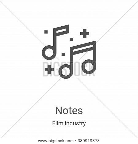 notes icon isolated on white background from film industry collection. notes icon trendy and modern