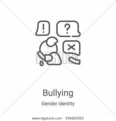 bullying icon isolated on white background from gender identity collection. bullying icon trendy and