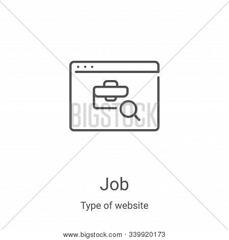 job icon isolated on white background from type of website collection. job icon trendy and modern jo