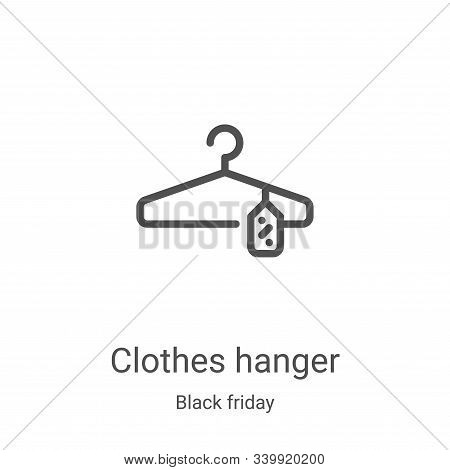 clothes hanger icon isolated on white background from black friday collection. clothes hanger icon t