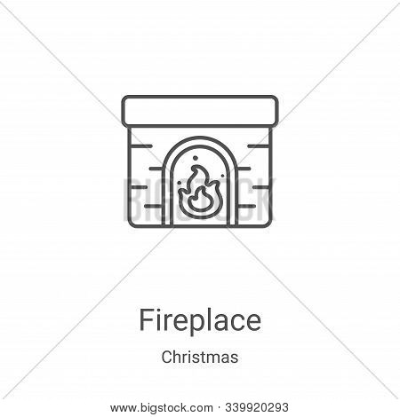 fireplace icon isolated on white background from christmas collection. fireplace icon trendy and mod