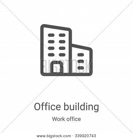 office building icon isolated on white background from work office collection. office building icon