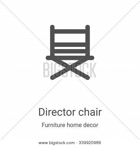 director chair icon isolated on white background from furniture home decor collection. director chai