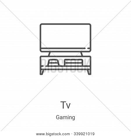 tv icon isolated on white background from gaming collection. tv icon trendy and modern tv symbol for