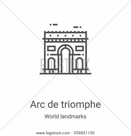 arc de triomphe icon isolated on white background from world landmarks collection. arc de triomphe i