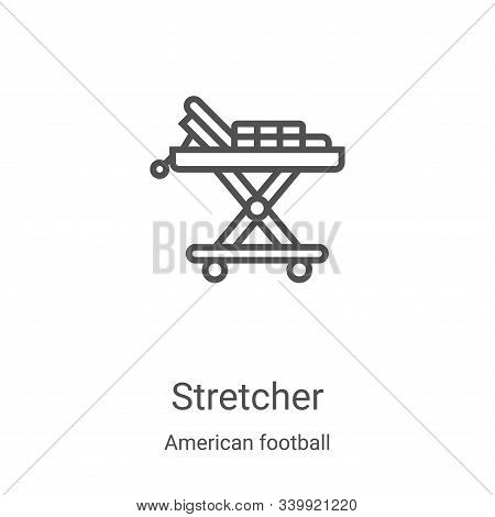stretcher icon isolated on white background from american football collection. stretcher icon trendy