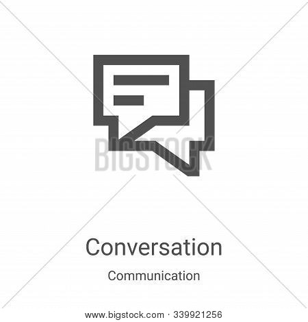 conversation icon isolated on white background from communication collection. conversation icon tren