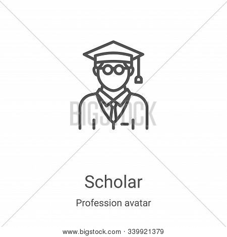 scholar icon isolated on white background from profession avatar collection. scholar icon trendy and