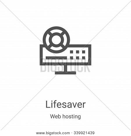 lifesaver icon isolated on white background from web hosting collection. lifesaver icon trendy and m