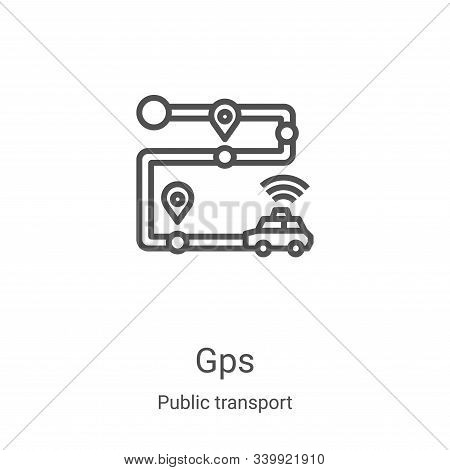 gps icon isolated on white background from public transport collection. gps icon trendy and modern g