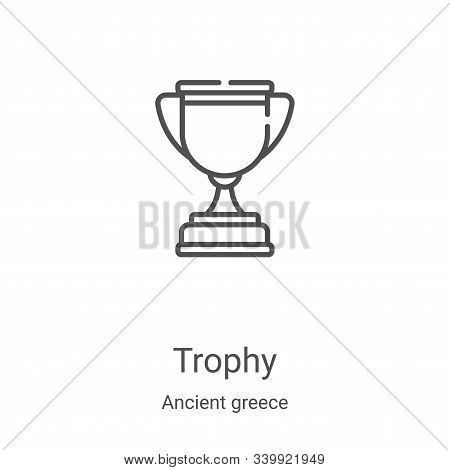 trophy icon isolated on white background from ancient greece collection. trophy icon trendy and mode
