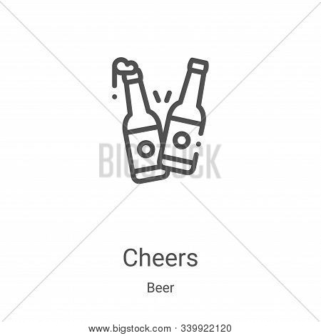 cheers icon isolated on white background from beer collection. cheers icon trendy and modern cheers